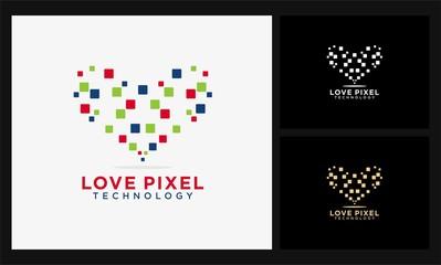 square love pixel logo