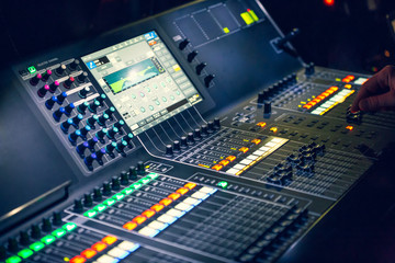 Sound engineer mixed live music concert