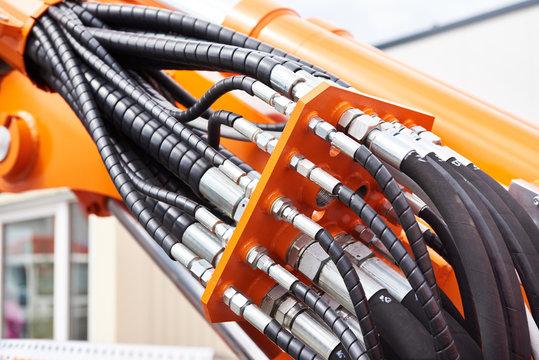 Hoses of hydraulic machine