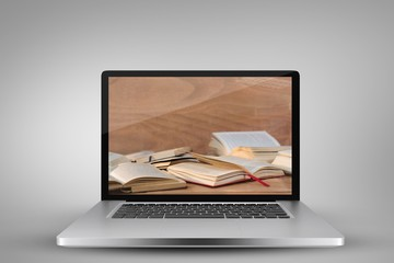 Composite image of laptop with with screen