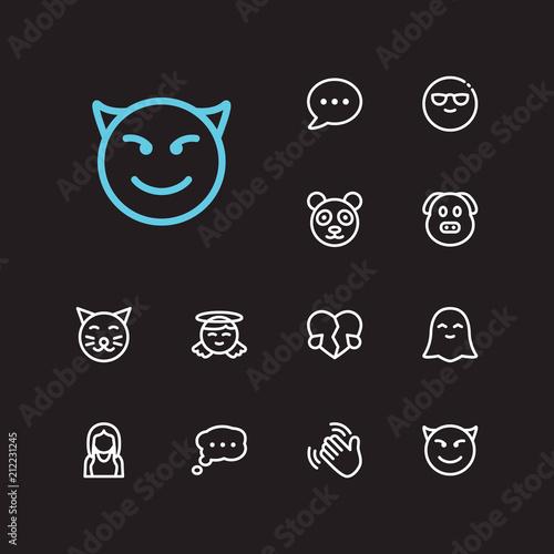 1bded3ea98d0 Emoji icons. Set of animal emoji