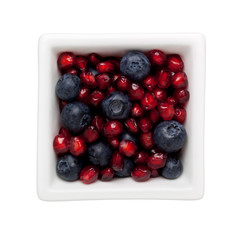 Pomegranate and blueberry