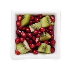 Pomegranate and kiwifruit