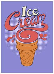 Ice Cream Swirl / A type based ice cream cone.