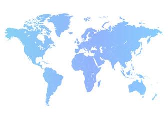World map on white background