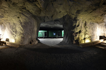 The silver mine. The quarry was discontinued in 1952 Kongsberg,Norway