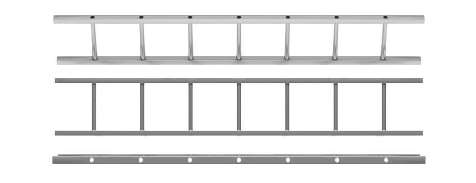 Wall ladder model isolated cutout on white background. 3d illustration