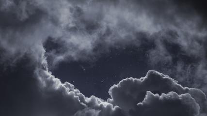 Keuken foto achterwand Hemel Cloudy night skly with stars