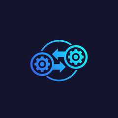 Integration, optimization vector icon