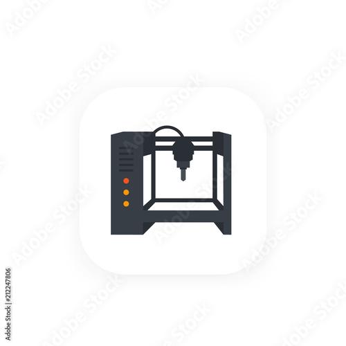 milling machine, cnc vector icon