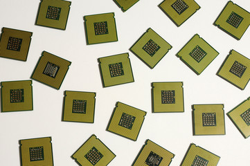 CPU, Processor Chip Isolated on white background.