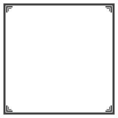 Black and White Decorative Line Border Frame
