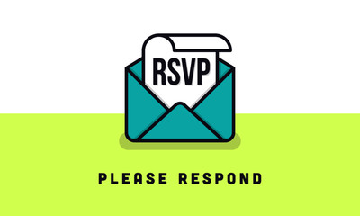 RSVP Concept. Vector illustration of RSVP icon.