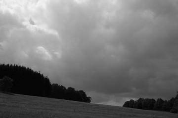 Wolken Schwarz Weiß Landschaft