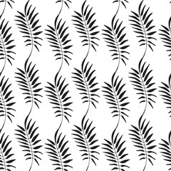 Floral pattern. Leaves texture. Stylish abstract vector plant ornamental background