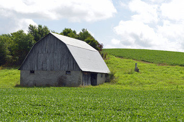 Rural landscape photo of an old barn in the country