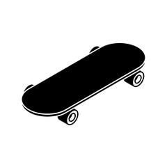 Skateboard sign icon. skateboarding symbol. Vector illustration