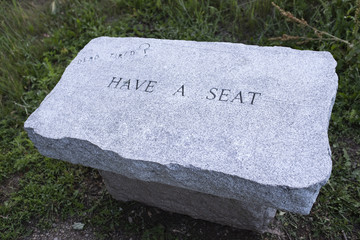 Tomb Stone Grave Seat Dead Tired