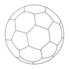 Ball cartoon illustration isolated on white background for children color book