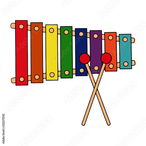 """Xylophone cartoon illustration isolated on white ..."