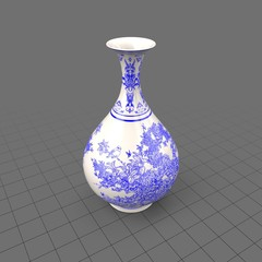 Ornate flower vase
