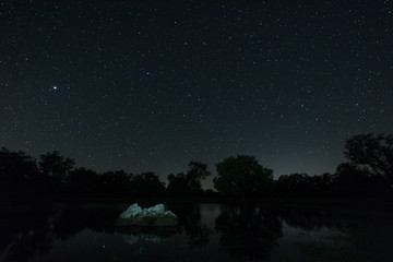 Night photography in the Natural Area of Aceituna. Extremadura. Spain.