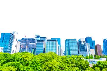 高層ビル群のイラストイメージ High-rise building