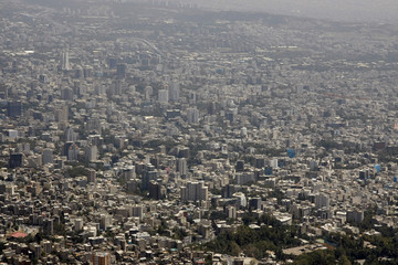 Aerial view of Tehran, capital city of Iran