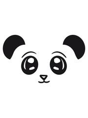 gesicht kopf panda süß niedlich bär china asien schwarz weiß comic cartoon