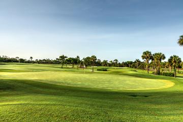 Emerald green grass on a golf course in Barbados