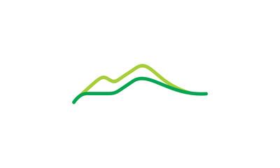 line mountain car logo icon vector