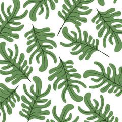 leafs plant ecology pattern vector illustration design