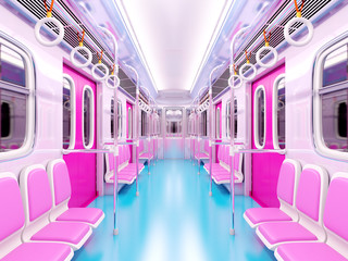 train cartoon interior