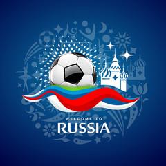 Soccer Ball design on blue background. vector illustration