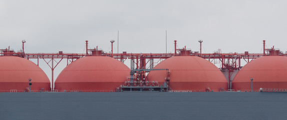 GAS CARRIER - The deck of a great tanker