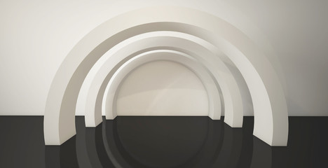 Minimalistic, geometric abstract background. 3d render.