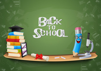 Concept of education.Back to school background.vector illustration.