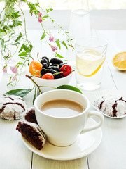 Morning coffee with milk