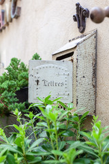 Rustic letterbox in St-Remy-de-Provence, France