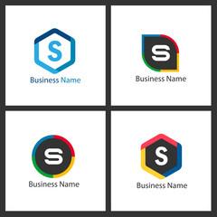 Letter S Logo Set Design