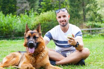 German shepherd herding dog breed