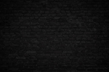 dark black old brick wall