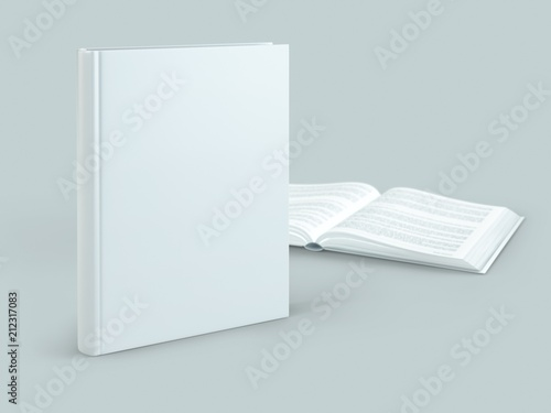 blank hard cover book template on blank background fotolia com の