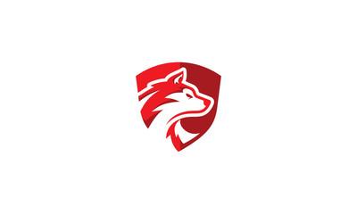 wolf dog vector icon logo