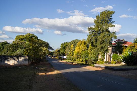 Residential Street with Mansion, Kabulonga, Woodlands, Lusaka, Zambia