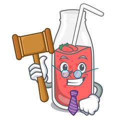 Judge strawberry smoothie mascot cartoon