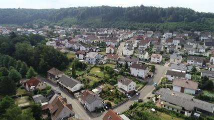 Dorf Luftaufnahme