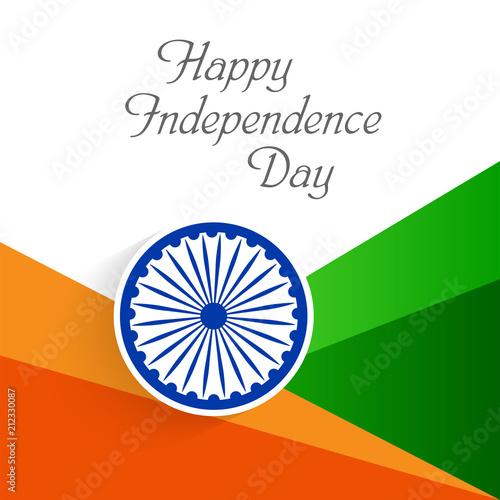 India Independence Day celebration background with Ashoka