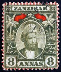 Postage stamp Zanzibar 1896 Sultan Seyyid Hamed-bin-Thwain