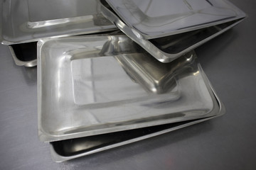 medical trays on the medical table